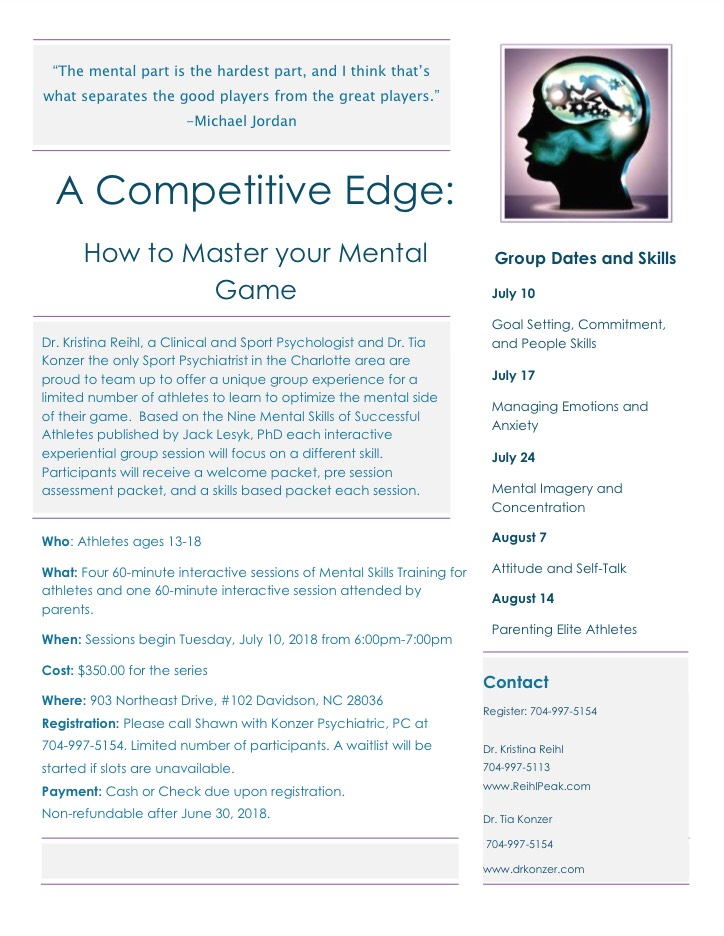 A Comeptitive Edge: How to Master Your Mental Game
